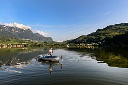 Fishing at the Lake Kalterer See