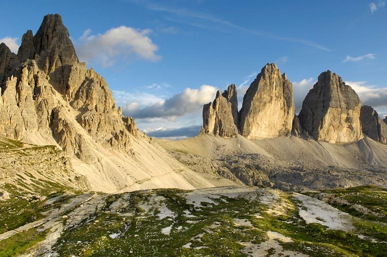 One of the famous mountains in South Tyrol:  the Three Peaks