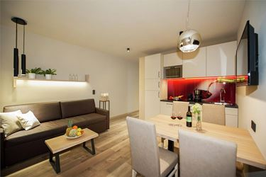 Appartment Chardonnay mit privatem Whirlpool